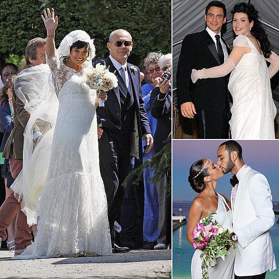 Pregnant celeb wedding
