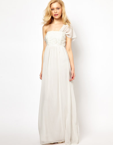 Lydia Bright Maxi Dress with One Shoulder Detail
