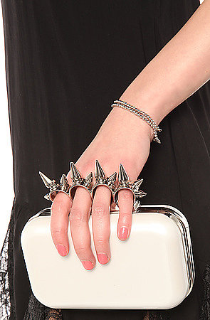 *Accessories Boutique The No Apologies Spiked Finger Clutch in Fuchsia