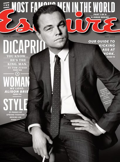 Leonardo DiCaprio Esquire cover for May 2013.
