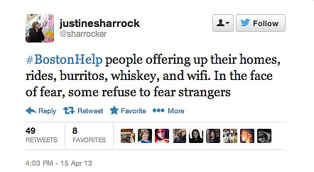 From whiskey to WiFi, people across the Internet were offering what they could.