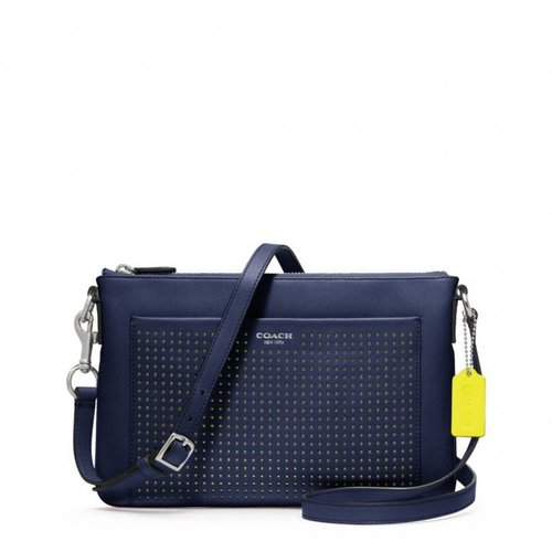 Legacy Perforated Leather East\/West Swingpack