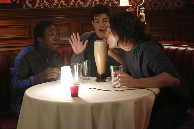 Lamorne Morris, Max Greenfield, and Jake Johnson on New Girl.