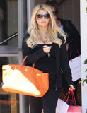 Jessica Simpson stopped by Fred Segal in LA.