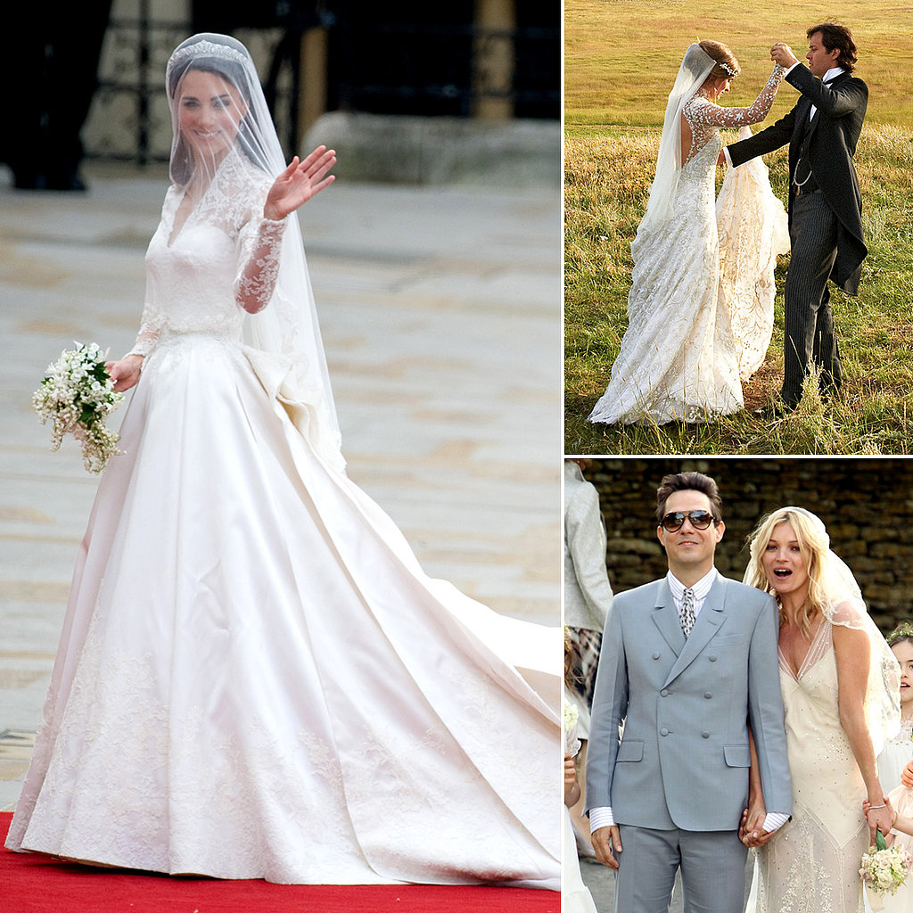 Who Did the Dress? 14 Celebrity Wedding Gowns — and the Designers Who Created Them