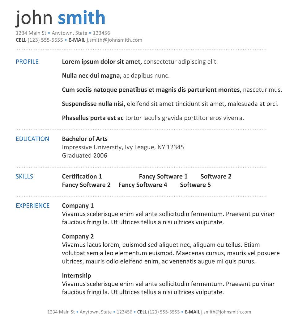 Best Resume Layouts 2013