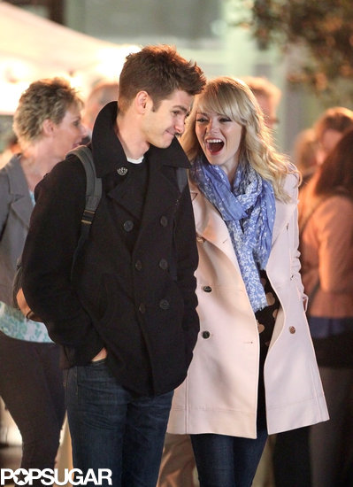 Emma Stone and Andrew Garfield filmed a scene together in NYC.