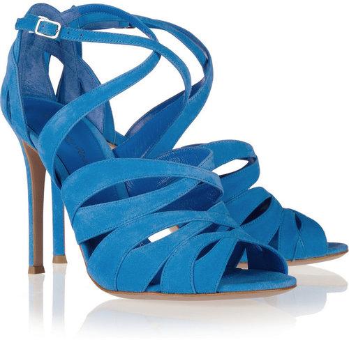 Gianvito Rossi Multi-strap suede sandals