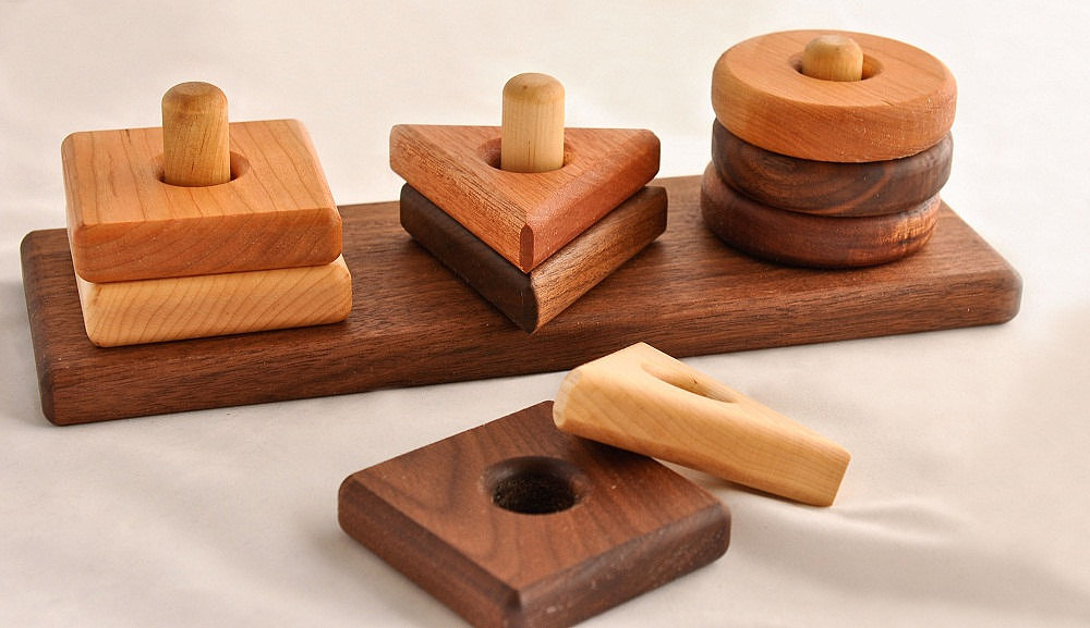 A Summer Afternoon Wooden Stacking Toy