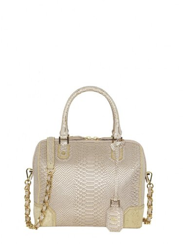 Olivia Tipped Snake Embossed Leather Bag