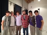 Judd Apatow hung out with One Direction and joked that he was joining a band. Source: Twitter user JuddApatow