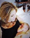 Jenna Bush-Hager cradled her newborn daughter, Mila. Source: Twitter user todayshow