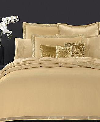 Donna Karan Bedding, Modern Classics Gold Leaf Full/Queen Duvet Cover
