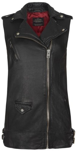 Cope Sleeveless Leather Jacket