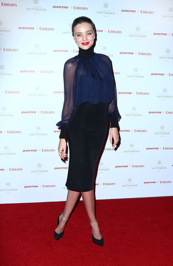Miranda Kerr Gets Sexy For a Qantas Dinner Down Under With John Travolta