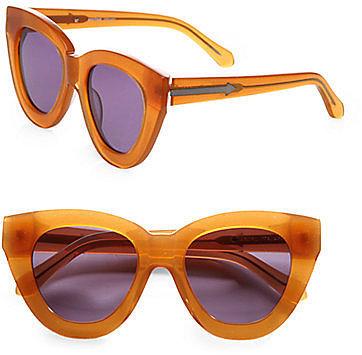 Karen Walker Anytime Cat's-Eye Acetate Sunglasses