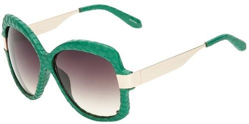 Linda Farrow Luxe snakeskin wrapped sunglasses