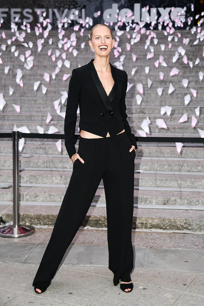 Karolina Kurkova wore Giorgio Armani at the Tribeca Film Festival Vanity Fair party. Source: Matteo Prandoni/BFAnyc.com