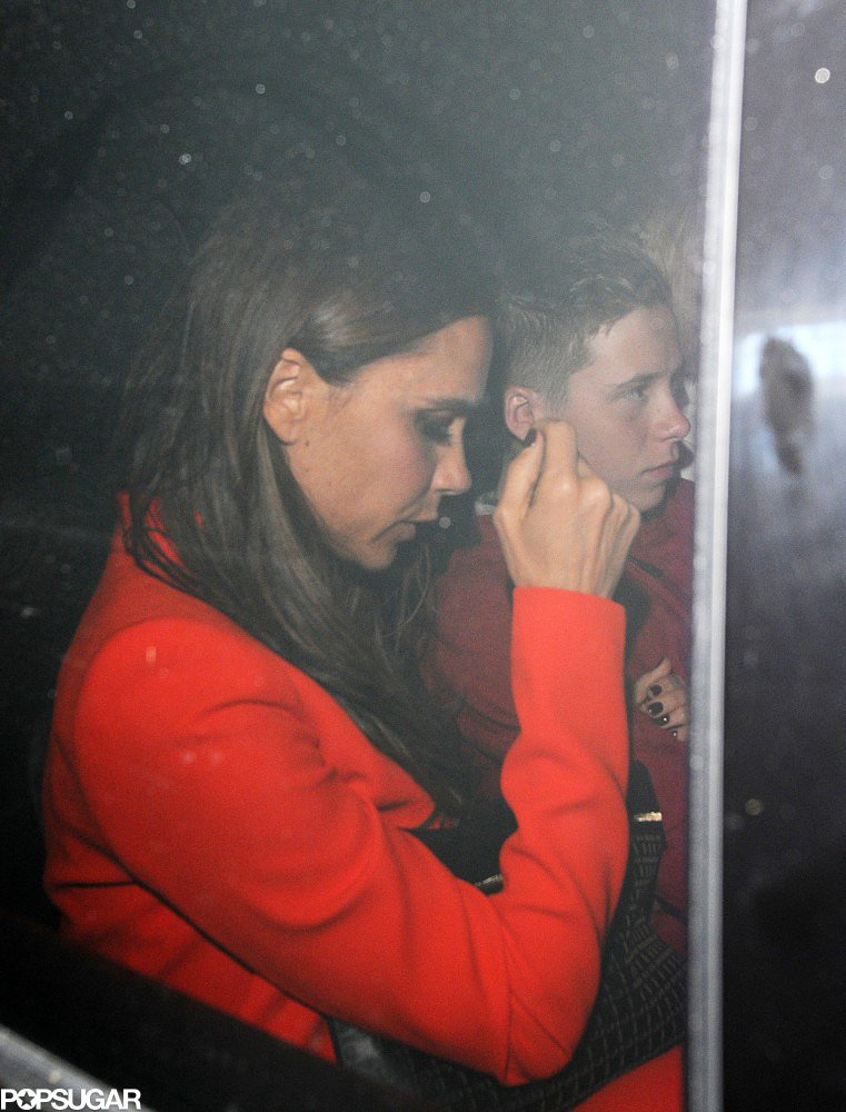 Victoria Beckham went to dinner for her 39th birthday in London.