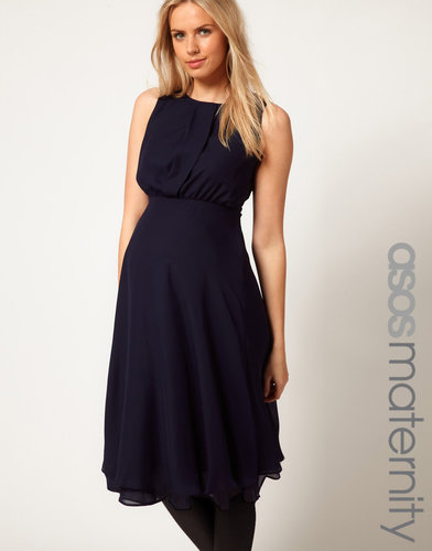 ASOS Maternity Midi Dress With Double Layer
