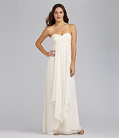 Laundry by Shelli Segal Strapless Swirls Gown