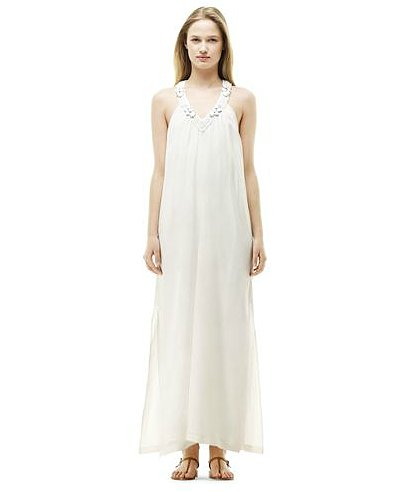 This Club Monaco Sharlene gown ($249) was made for the low-maintenance femme.