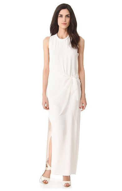 We love the simple silhouette and the subtle ruching detail of this 3.1 Phillip Lim column gown ($650)