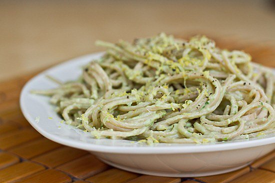 Make a little extra of this creamy avocado pasta for a filling day ...