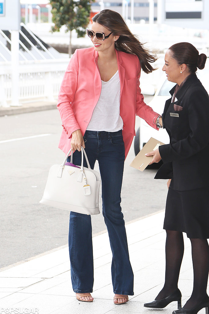Miranda Kerr Breezes Out of Australia Ahead of Her Big Birthday