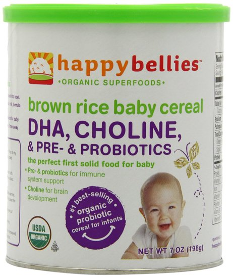 Happy Bellies Brown Rice Baby Cereal