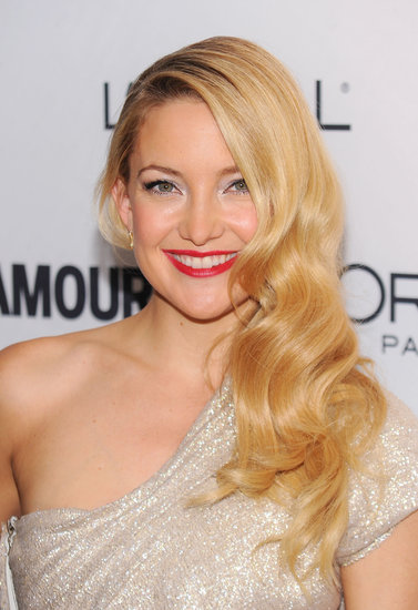 Kate channeled Old Hollywood with her classic glam waves and red lip at the Glamour Women of the Year event in 2010.