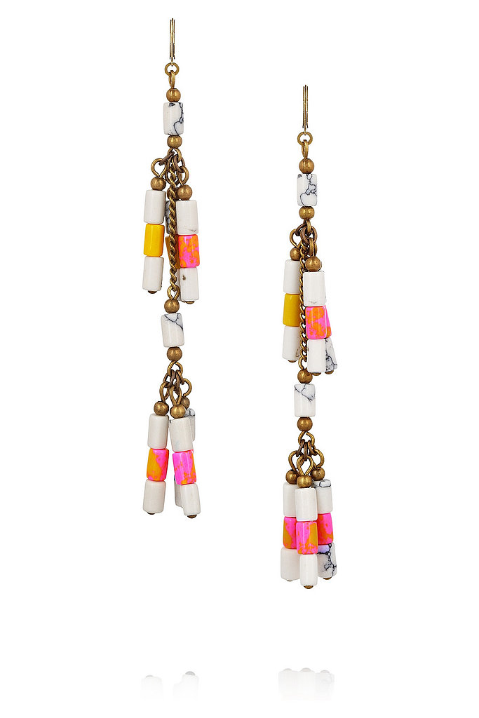 Pop these Isabel Marant Howlite Beaded Earrings ($165) on to instantly dress up your dinner-and-drinks look.