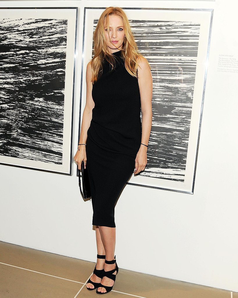 Uma Thurman at Calvin Klein and HRC's Americans For Marriage Equality Campaign event. Source: Billy Farrell/BFAnyc.com