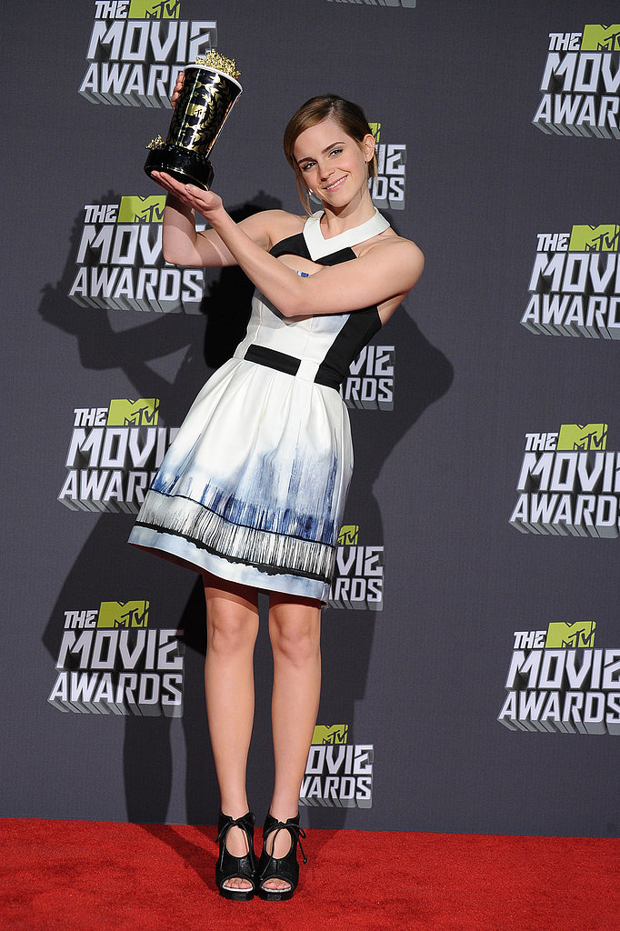 Emma Watson wore Maxime Simoens at the MTV Movie Awards in Los Angeles.