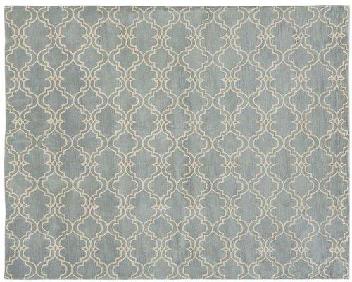 Scroll Tile Rug - Porcelain Blue