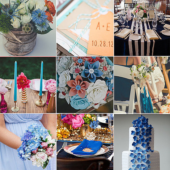 If you're looking to add blue to your wedding's color palette but don't know exactly where to start, POPSUGAR Home has found several weddings that give something blue a truly unique twist.
