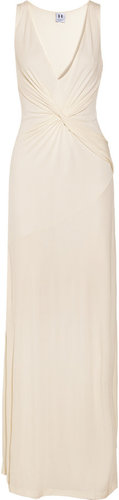 Halston Heritage Twist-front jersey gown
