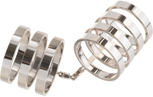 Repossi White Gold Seven-Row Berbere Ring