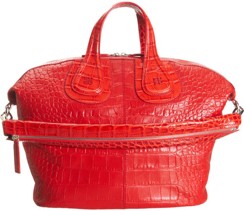 Givenchy Croc-Stamped Medium Nightingale Satchel