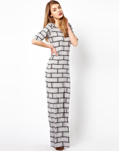 Olivia Rubin Brick Print Maxi Dress
