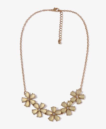FOREVER 21 Bejeweled Flower Necklace