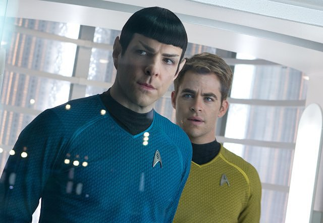 Star Trek Into Darkness  Who's starring: Zachary Quinto, Chris Pine, Zoe Saldana, and Benedict Cumberbatch Why we're interested: Cumberbatch plays a mysterious new villain, and he looks bad. We're equally excited to get reacquainted with Spock and Captain Kirk, the characters Quinto and Pine made their own in the first installment. When it opens: May 16  Watch the trailer for Star Trek Into Darkness.