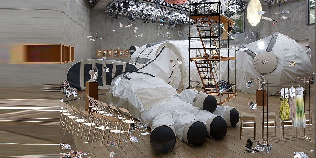A Giant Space Suit in Honor of the First Female Astronaut
