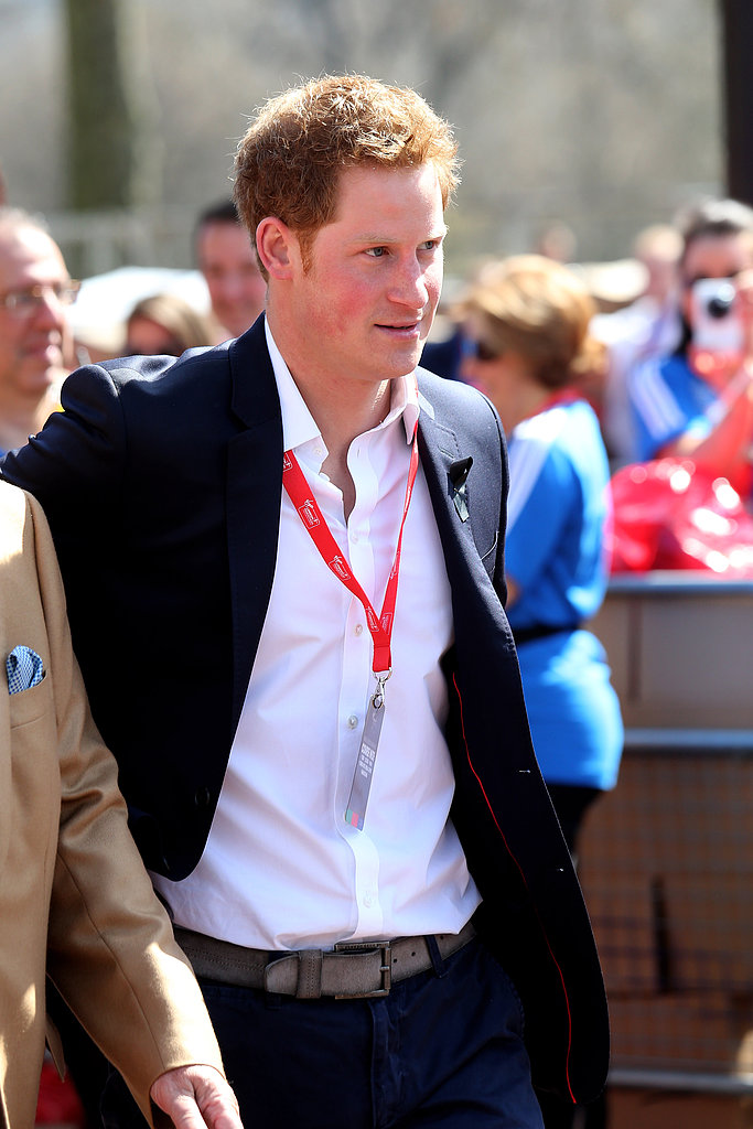 Prince Harry Salutes Boston and Mingles With His Girlfriend's Sister at London Marathon