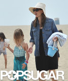 Jennifer Garner and Her Girls Hit the Beach in Santa Monica