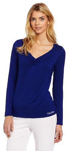 Calvin Klein Women's Modal Long Sleeve Sleep Shirt