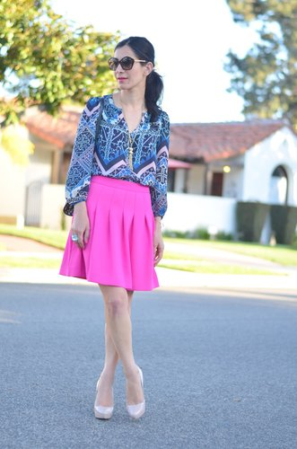 I Heart Vintage Couture - by Annette Vartanian: Blue + Pink + Vintage Tassel Necklace
