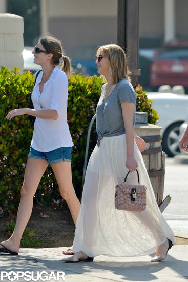 Jennifer Lawrence grabbed brunch with friends in LA.