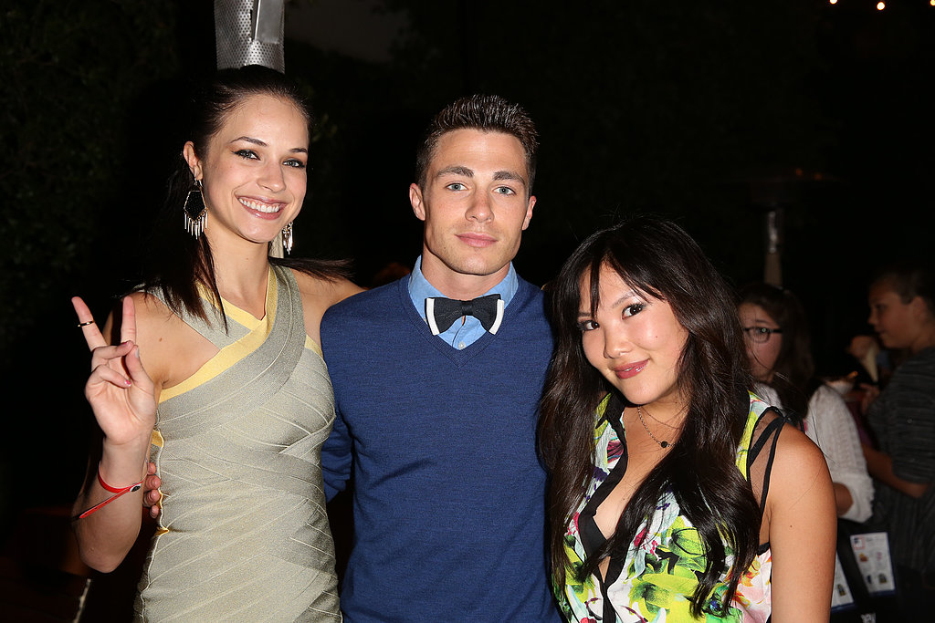 Alexis Knapp, Colton Haynes, and Ally Maki got together inside the Spring Break: Destination Education party in LA.