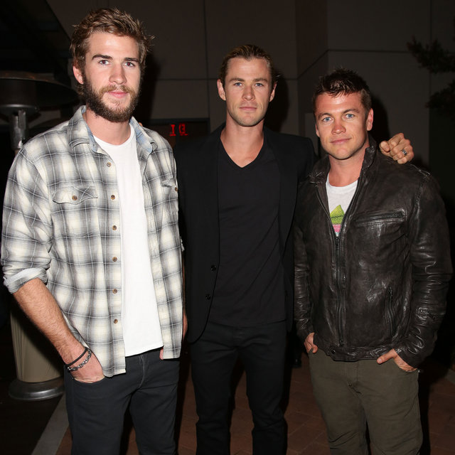 Liam, Chris, Luke Hemsworth at Spring Break Education Event